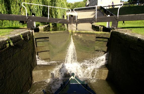 Kennet and Avon Canal lock gates